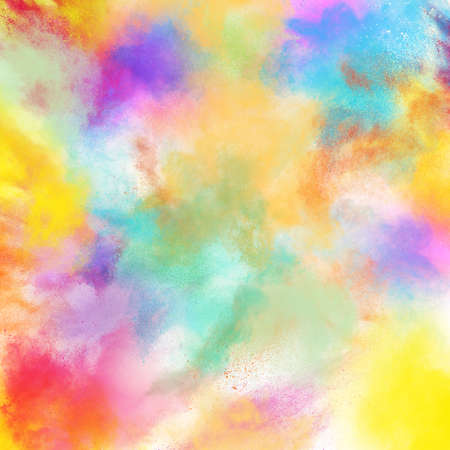 Background of burst of bright colored powders