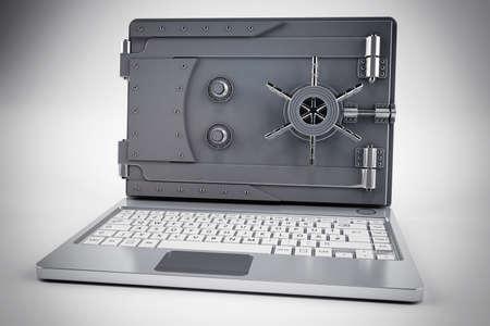 Ordinateur portable 3D avec l'écran en toute sécurité