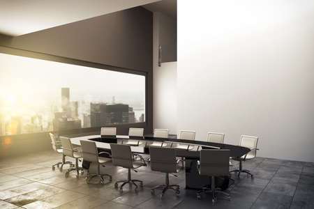 convention: 3D rendering of an office with view