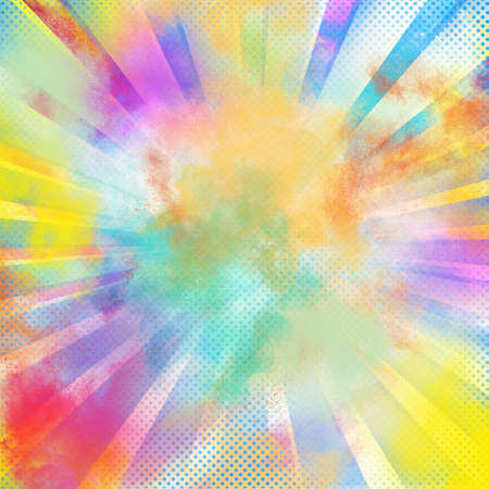 festive background: Background of burst of bright colored powders