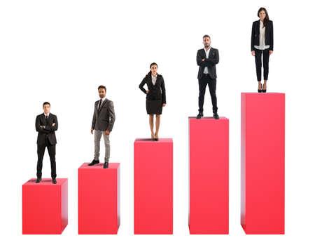 incremento: El éxito de la cooperación empresarial equipo para la empresa
