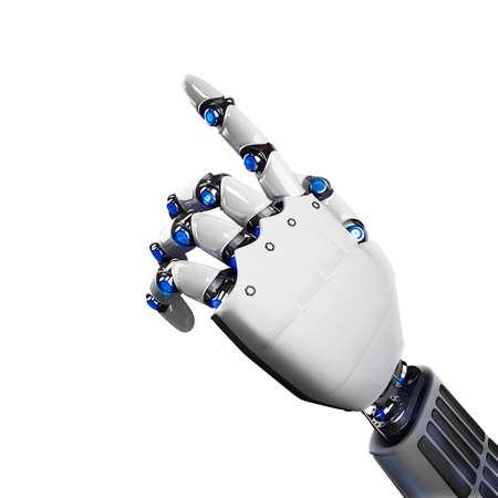 3D-Rendering von futuristischen Roboterhand anzeigt Standard-Bild - 61782334