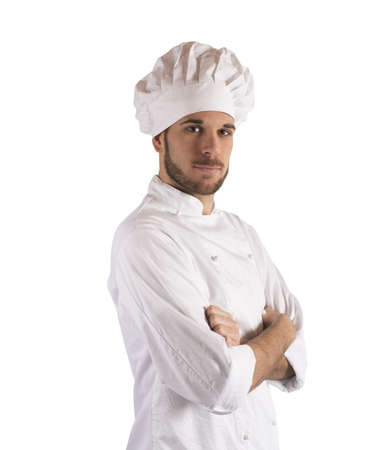 Portrait of professional cook with chef hat