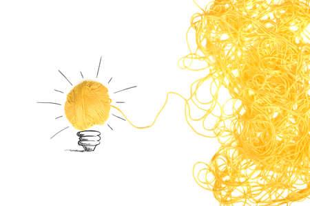 ウール糸のもつれと考えおよび革新の概念