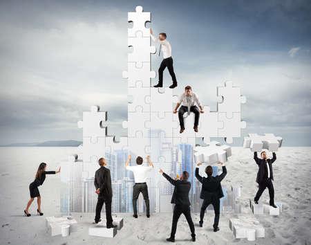 Der Bau eines neuen und kollaborative Unternehmen Standard-Bild