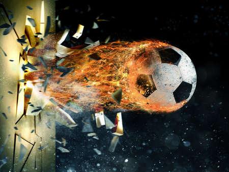 축구 불 덩어리 힘 스톡 콘텐츠