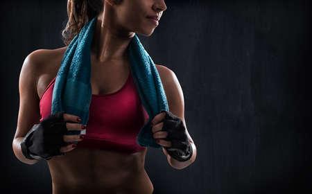 Frau nach dem Fitness-Training Standard-Bild - 90779773