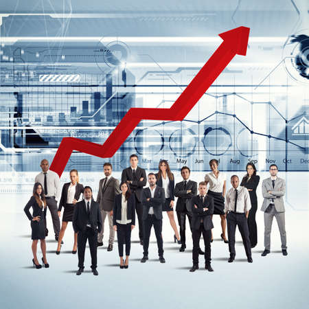 Ondernemers van een succesvolle onderneming