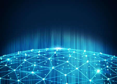 Sistema de interconexión de la red Foto de archivo - 70265090