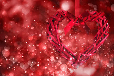 leidenschaft: Red hearts background. Valentine day Lizenzfreie Bilder