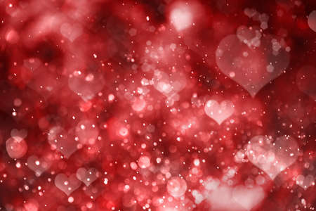 tender sentiment: Red hearts background. Valentine day Stock Photo
