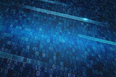 Système numérique binaire Banque d'images - 70537968