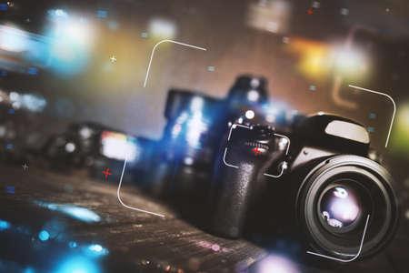 Professional reflex camera Stock Photo