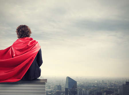 strong: Business city superhero