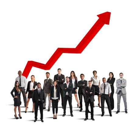 Businesspeople of successful company Stock Photo