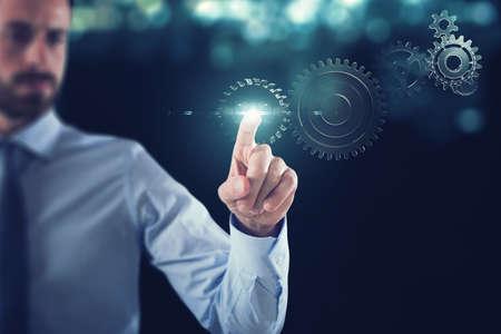 Bedrijf werken met versnellingen mechanisme