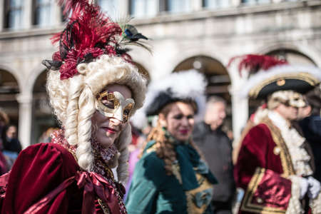 Traditional Venice carnival 2017 Editorial