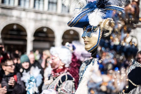 europe: Traditional Venice carnival 2017 Editorial