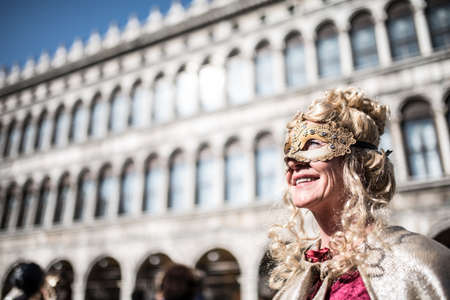 venice: Traditional Venice carnival 2017 Editorial