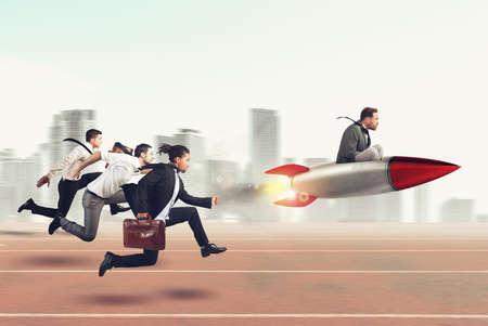 Overwinnen en het bereiken van succes 3D Rendering Stockfoto