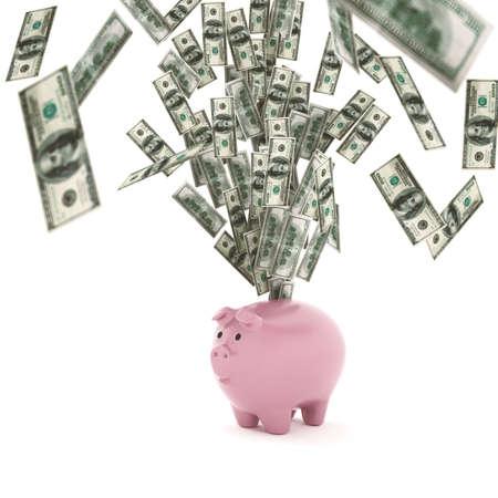 ganancias: Concepto de riqueza económica Renderizado en 3D Foto de archivo