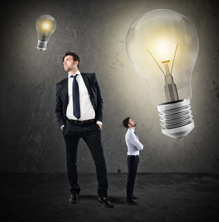 work: Great ideas from little businessmen Stock Photo