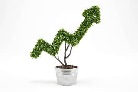 diagrama de arbol: Growing the economy company . 3D Rendering Foto de archivo