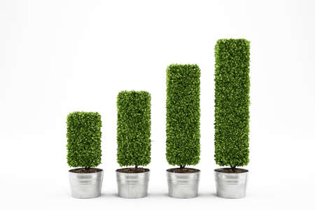 Growing the economy. 3D Rendering Stock Photo