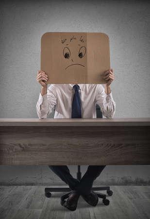 delusion: Negative businessman