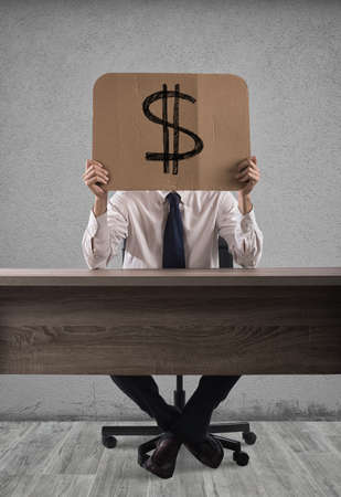 semblance: Business money cardboard Stock Photo