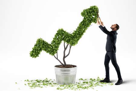 Wächst die Wirtschaft Gesellschaft. 3D-Rendering Standard-Bild - 74154394