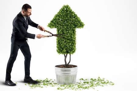 경제 회사를 성장. 3D 렌더링 스톡 콘텐츠