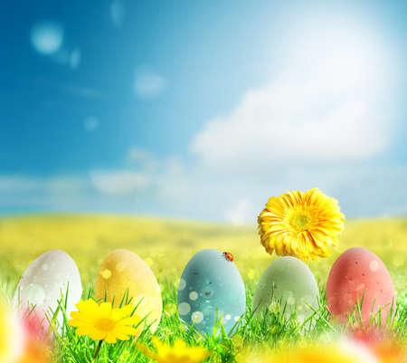 decoration: Happy Easter Stock Photo
