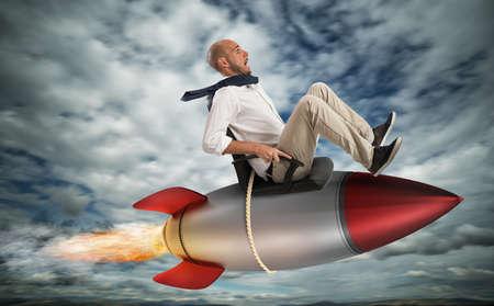 Verhoog de klim naar succes Stockfoto