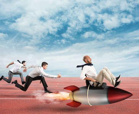 Overcome and achieve success Standard-Bild