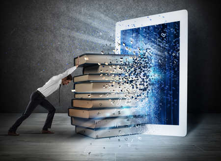 electronic: Reading books with an E-book