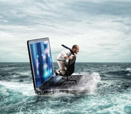 Verbonden in de zee web Stockfoto