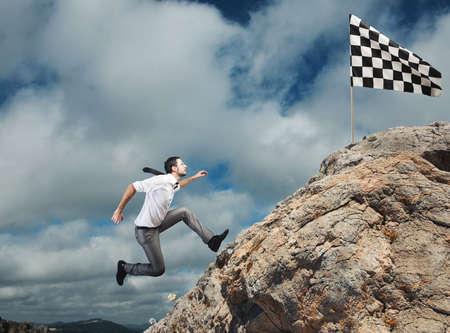 Moeilijk carrière en prestatie bedrijfsdoel