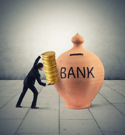 銀行の預金の利益 写真素材 - 75192385