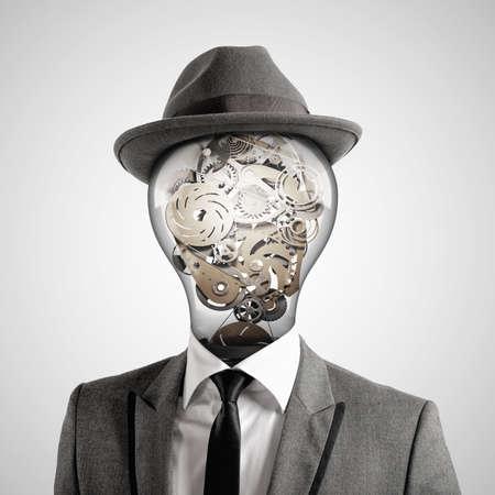 독창적 인 머리. 3D 렌더링