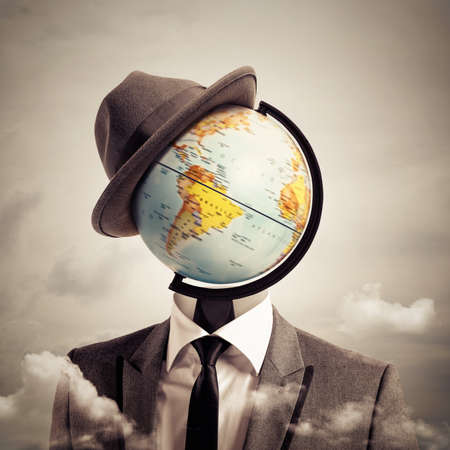antique: Man globetrotter