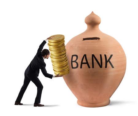ganancias: ganancias de depósito en un banco Foto de archivo