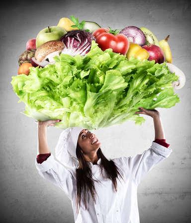 Vegetarisch Koch Standard-Bild - 75574711