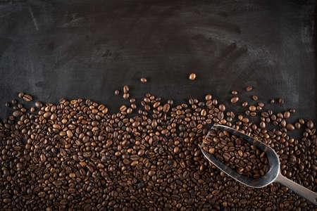 dark: Background coffee beans