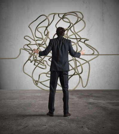 solution: Businessman resolves the tangle