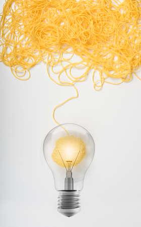 アイデアと羊毛ボールと革新の概念 写真素材