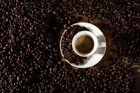 dark: Background of cup of coffee