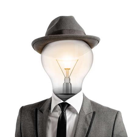 Ingenious head Stock Photo
