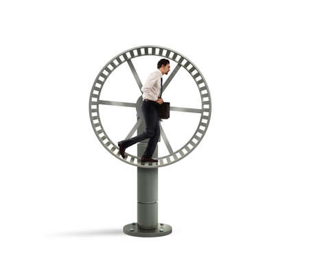 trapped: Looping life for a businessman Stock Photo