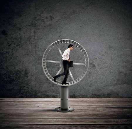 Looping Leben für einen Geschäftsmann Standard-Bild